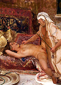 He tied the slave's hands behind her head pic 1