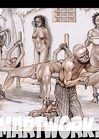New slaves being shaved pic 4