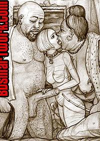 Madame Miko started to kiss her English slave girl deep and hard pic 3