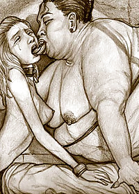 Madame Miko started to kiss her English slave girl deep and hard pic 4