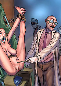 Your own weight helps me to slip the metal probe into your fuckbox pic 2