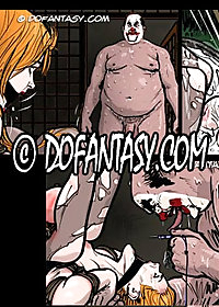 Beautiful, redheaded Beatrice is broken by big, fat bastard and his big dicked robot pic 4